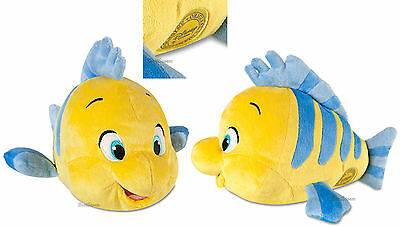 "NEW Disney Store The Little Mermaid 10"" Small FLOUNDER FISH PLUSH Ariel friend"