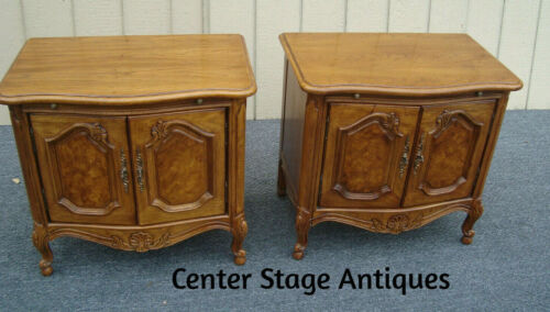 61423   Pair THOMASVILLE French Country Nightstand End Table Stands
