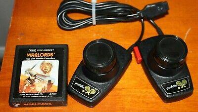 Atari 2600 Original CX30 Jitter Free Paddles & Sears Tele-Games Warlords Game