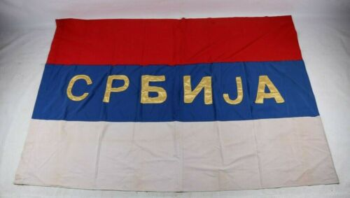 Cyrillic Letters Serbia Volunteer Units War Flag Srbija Hooligans