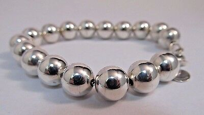 Tiffany & Co. Bead Bracelet - Sterling Silver - 7.25