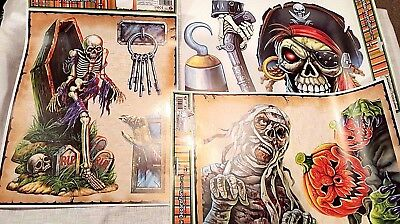 Halloween Window Clings Skeletons Pirates Mummy Pumpkins Coffin Skulls Graves (Halloween Mummy Coffin)