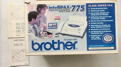 Brother IntelliFAX-775 Plain Paper Fax Phone & Copier, Partially Tested! Retro!
