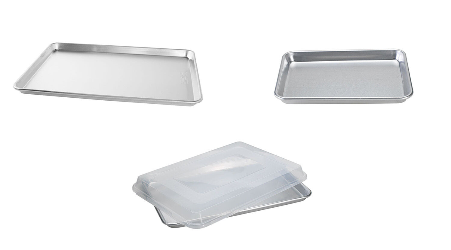 Nordic Ware Natural Aluminum Commercial Baker's Sheets, 3 Si