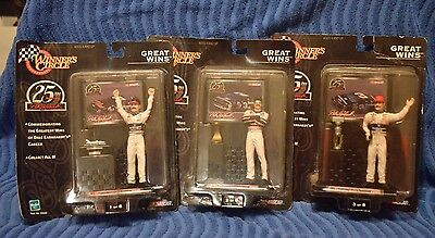 3 NASCAR 25th Anniversary Winners Cr. Dale Earnhardt Collector Series Figures , used for sale  Ellenton