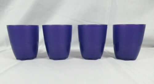 Set of (4) TUPPERWARE Open House Collection 10oz Tumblers #4792~Made in the USA