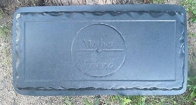 "Concrete bench mold First my Mother  Forever my friend  3/16th"" abs plastic  for sale  Shipping to India"