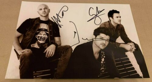 THE SCRIPT     - GROUP POSE  - FULLY  SIGNED BW  PHOTO -  11x8 Inch  -  UACC RD
