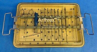 Arthrex Ar-5025s Bio Compression Cannulated Instrument Set W Extras Arthroscopy