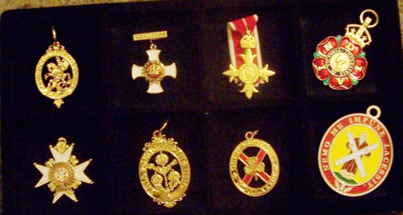 UK Britain Royal Garter Bath DSO Patrick Saint Order Medal Badge Service Merit