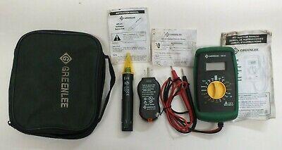 Greenlee Basic Electrical Kit Dm-20 Mutimetergt-10 Tester Gt-11 Vol Detector