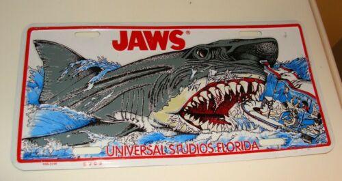 Rare ~JAWS~ Universal Studios metal license plate Florida Souvenir Shark attack