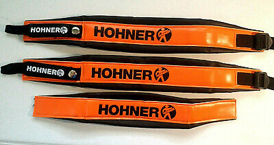 HOHNER STRAPS BRAND NEW FOR ACCORDION.COLOR ORANGE LETTER BLACK