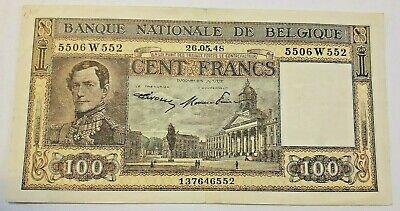 100 FRANCS 1948 BELGIQUE / BELGIE 100 FRANK / BELGIUM - P126 #F3#