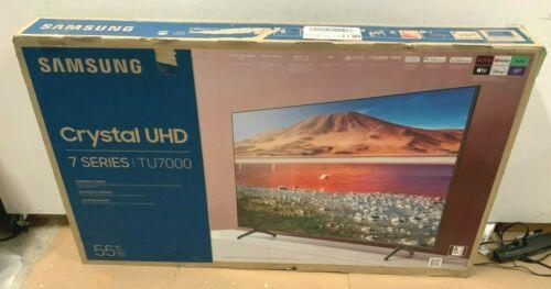 "SAMSUNG 55"" Class 4K Crystal UHD (2160P) LED Smart TV HDR UN55TU7000 2020 ✅❤️️"