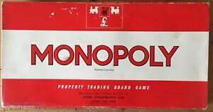 MONOPOLY - ORIGINAL Classic Early Edition Board Game Waddingtons 1972 ref #402