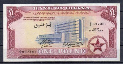 GHANA Africa 1 Pound VF+ 1959