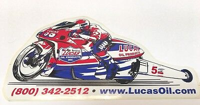 """LUCAS OIL Products Sticker, Motorcycle Dragster Number 5, 6-1/2"""" x 4"""""""