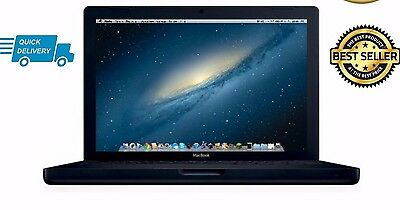 """Apple MacBook 13"""" Core 2 Duo  2.0GHz 2GB 160GB HDD MB404 2008 A1181 BLACK"""