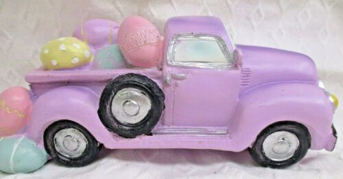"Easter TRUCK with Eggs Decoration - 7.25"" x 3.25"""