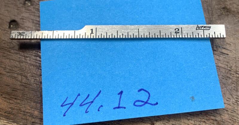 "lufkin 2.5"" stick ruler, machinist, nice shape — 44.12"