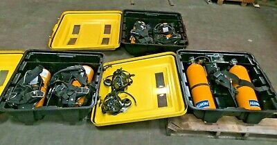 Lot Of 3 Msa Scba Fire Rescue Safety Dual Tank Regulator W Hard Case