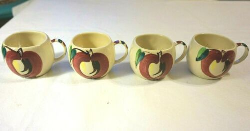 Vintage Purinton Pottery Cups Open Apple