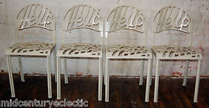 Set-4-Hello-There-Artifort-Jeremy-Harvey-Chairs-Knoll-Mid-Century-Vintage-MCM