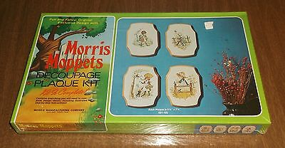 Vintage Morris Moppets Decoupage 4 Plaque Wall Hang Kit - Sealed