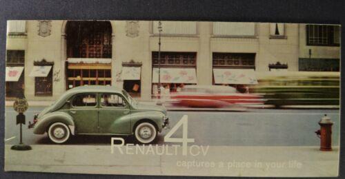 1959 Renault 4CV Sedan Sales Brochure Folder Excellent Original 59