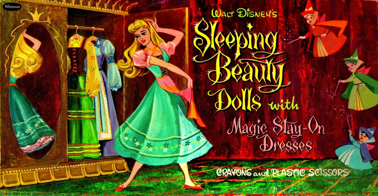 VINTAGE REPRINT - 1958 - SLEEPING BEAUTY PAPER DOLLS - RARE & HTF REPRODUCTION