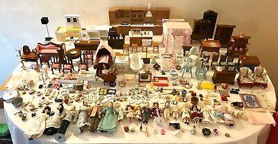 Vintage Dolls House Furniture Bundle Accessories Victorian Dolls