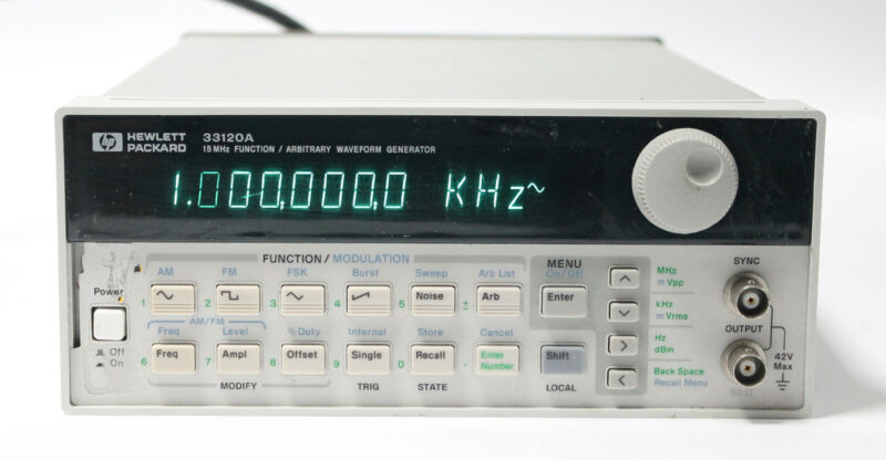HP / Agilent 33120A 15 MHz Function / Arbitrary Waveform Generator