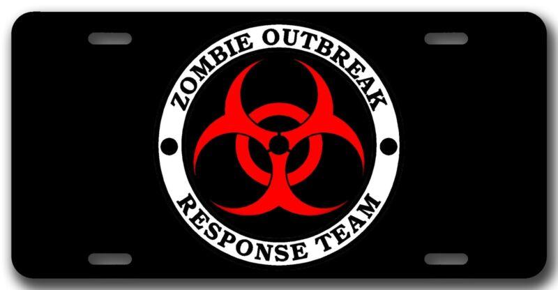 L@@K! Zombie Outbreak Response Team Car Vanity Tag - License Plate U.S.Z.O.R.T.