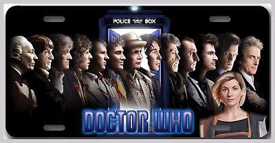All 14 Doctors Doctor Who Tardis Car Vanity Tag  - License Plate Jodie Matt Davi