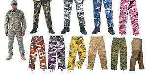 Military-BDU-Pants-Army-Cargo-Fatigue-Camouflage-Camo
