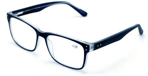 Large Men Premium Rectangular Reading Glasses Optical Frame Reader Spring Hinge