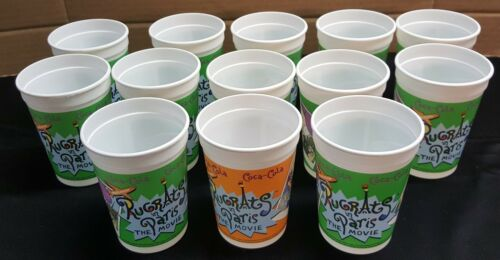 IM) 13 RARE Coca-Cola Nickelodeon Rugrats in Paris The Movie Plastic Cups 2000