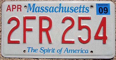 MASSACHUSETTS Spirit of America License Plate  - Random Letters - MA