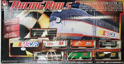 Vintage Life-Like Nascar Racing Rails HO Scale Electric Train Set 2006 Tested