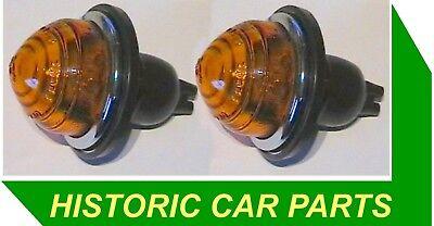 Morris Minor 1000 Pick Up 1952 71   2 Rear Amber Indicator Lights L594  594