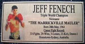 JEFF FENECH Boxing Champions Gold  Photo Plaque