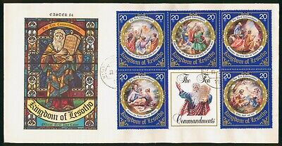 Mayfairstamps Lesotho FDC The Ten Commandments Combo First Day Cover wwo_58081