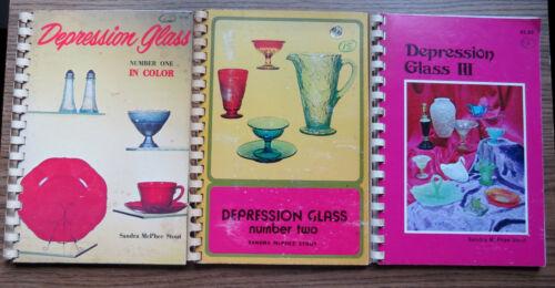 DEPRESSION GLASS VOLS 1-3 Sandra McPhee Stout