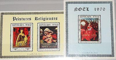 CHAD TSCHAD 1970 318-20 227G-I DELUXE Christmas Weihnachten Paintings Art MNH