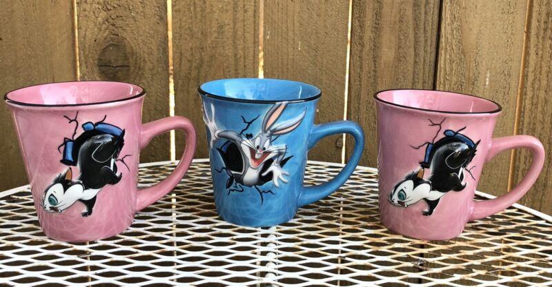 XPRES Encore Penelope Pepe le Pew & Bugs Bunny Coffee Mug Looney Tunes Cup