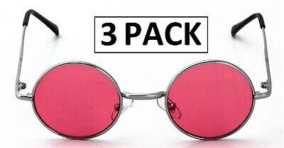 3 Pack 6 Pack 12 Pack Bulk Lot Wholesale John Lennon Glasses Pink Red Lenses (Red John Sonnenbrille)