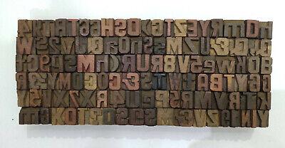 Vintage Letterpress Woodwooden Printing Type Block Typography 56 Pc 20mmlb123