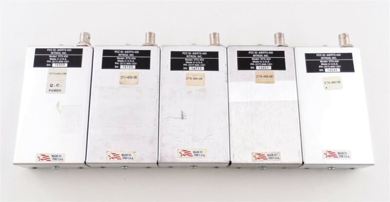 Lot of 5 Ritron DTX-450-0B Programmable FM Transceiver Modules Used