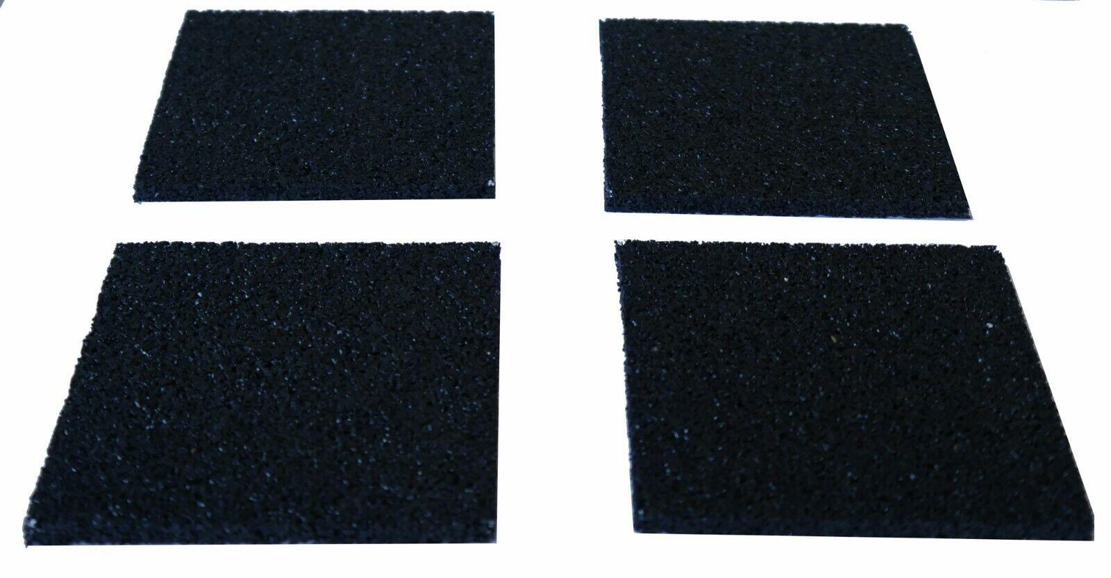 Antivibrationsmatte 4 St. Pads 10x10x1cm 2.Wahl Antirutschmatte Waschmaschine